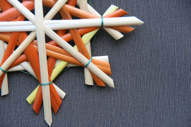 Étoile en paille - Christmas straw star