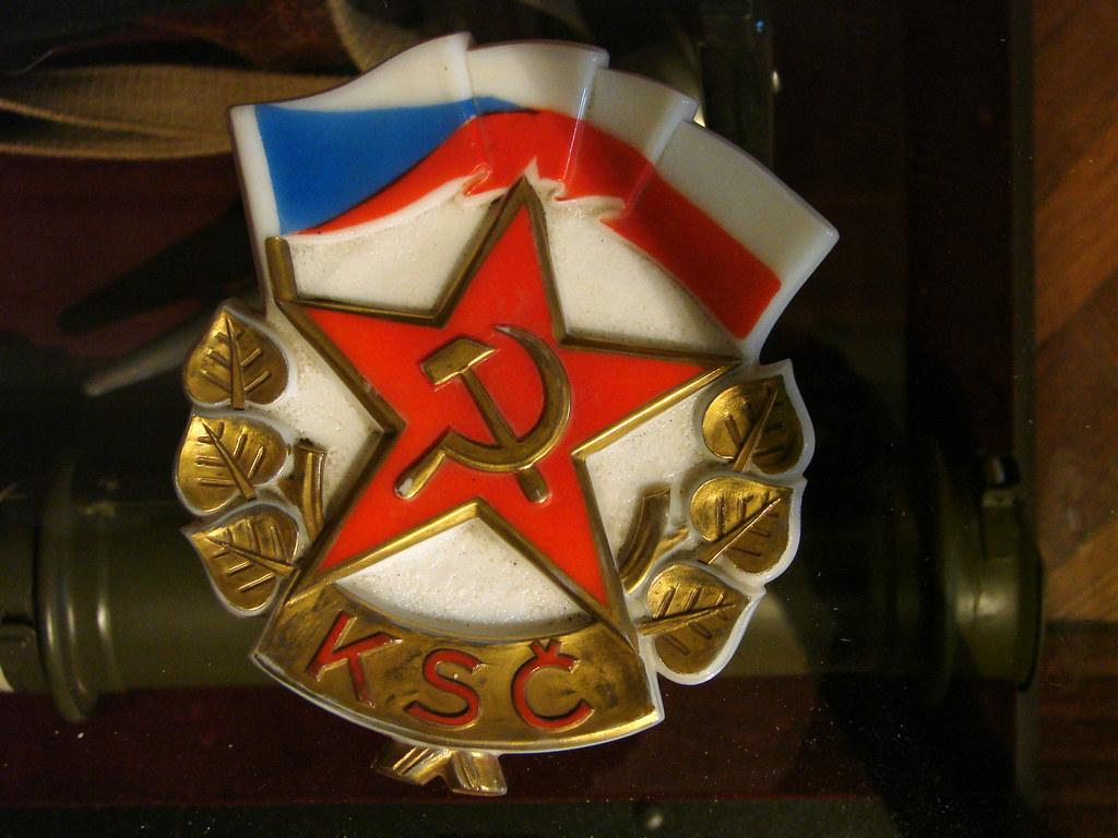 Czech Communist Party Emblem - Museum of Communism - Prague, Czech Republic