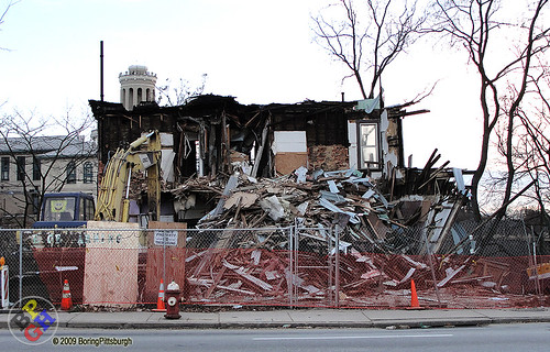 "Carnegie Mellon ""Research & Retail Development"" Construction   by BoringPittsburgh"