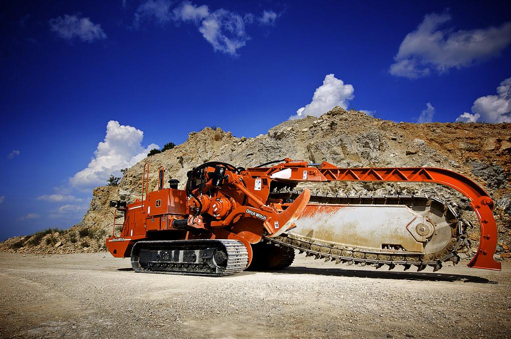 Trenching Machine, Heavy Equipment Used in Construction