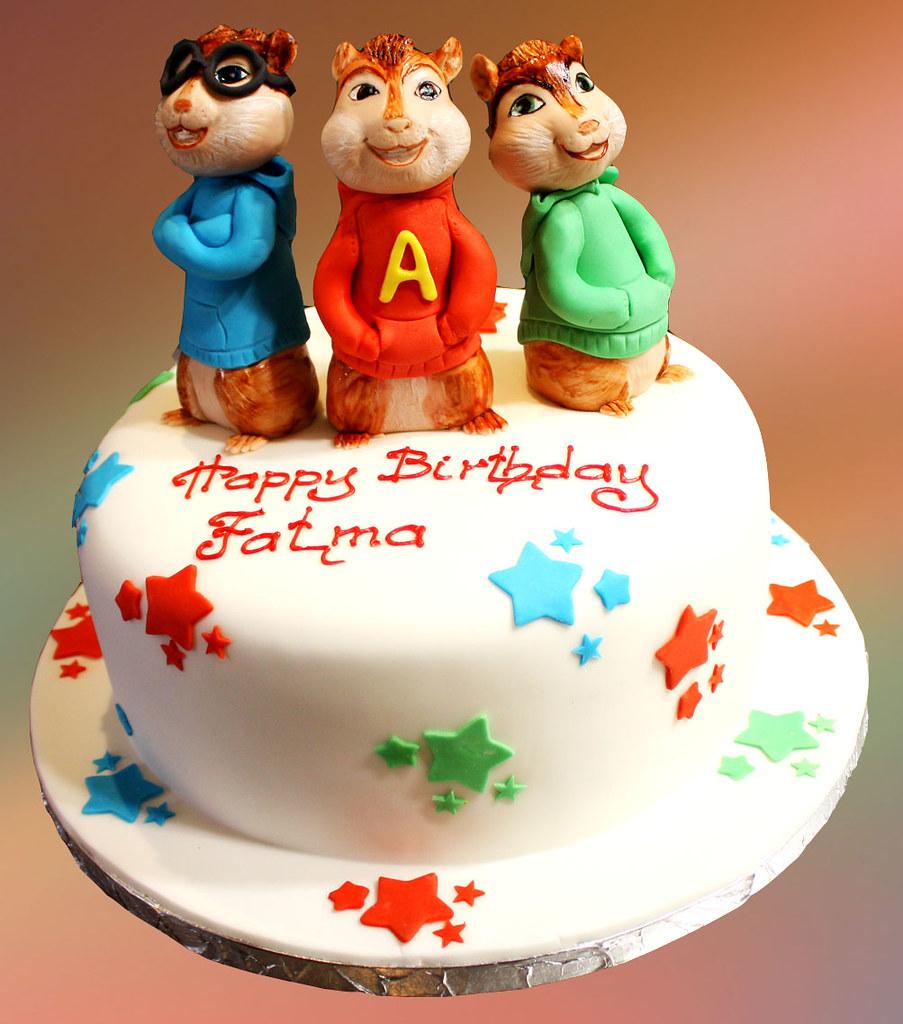Amazing Alvin And Chipmunks Cake Svetlana Nikolova Flickr Funny Birthday Cards Online Alyptdamsfinfo