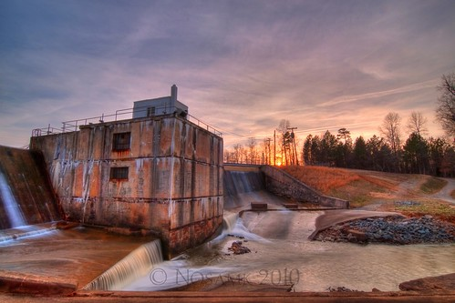 sunset lake water nc dam tripod northcarolina salem hdr gitzo winstonsalem photomatix 5exposure arcatech tokinaatx116prodx gt2531