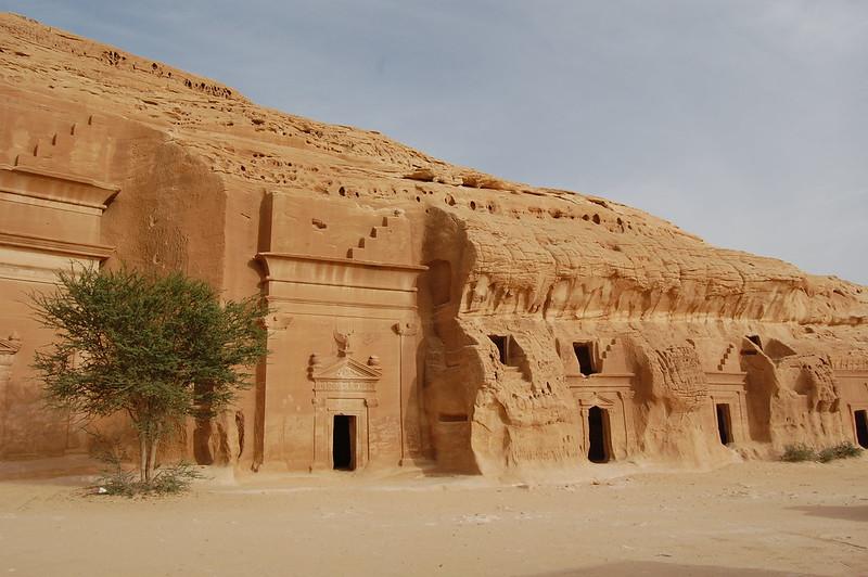 Ancient cave dwellings in Mada'in Saleh (Cities of Salih)