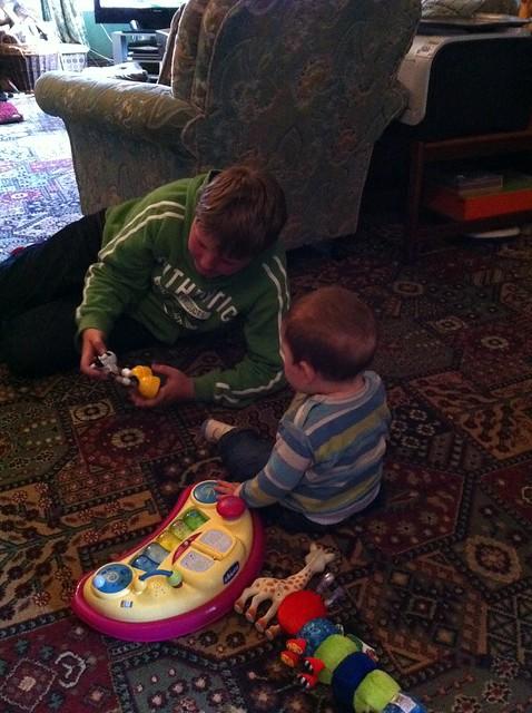 Alex with his second cousin William in Godor