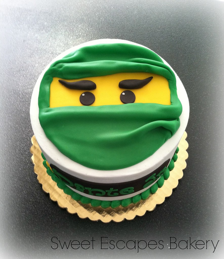Pleasing Ninjago Birthday Cake Karen Flickr Funny Birthday Cards Online Alyptdamsfinfo