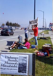Mitsubishi protest 1