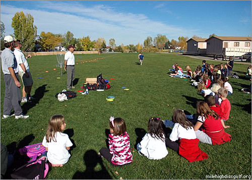 Mile High Disc Golf hosts a clinic for students of Westrid