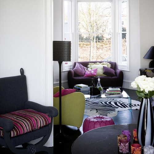 Pink Purple and Green Living Room | Post on Brunch at Saks ...