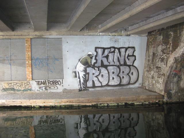 Camden King Robbo graffiti
