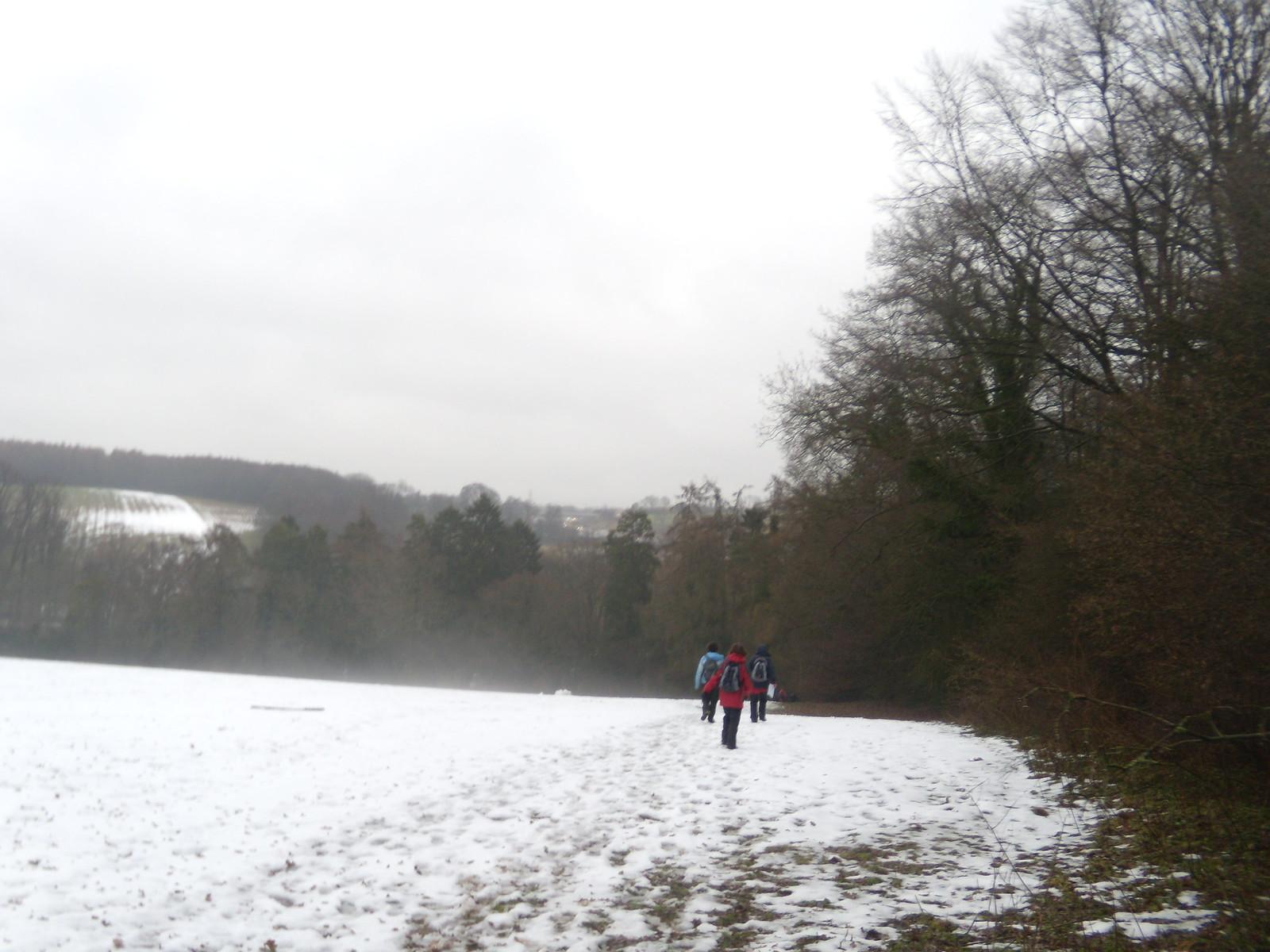 Remaining snow DSCN8567 Chorleywood to Chesham
