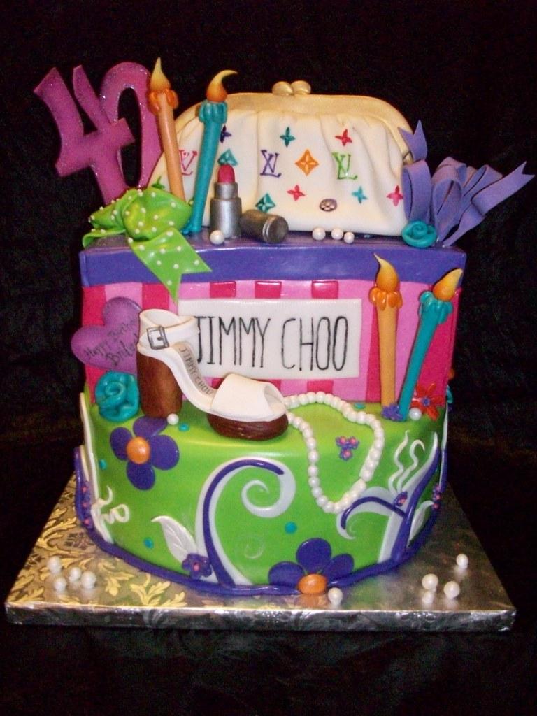 Pleasant Fashionista Birthday Cake My Friend Chris Was Surprising H Flickr Personalised Birthday Cards Sponlily Jamesorg