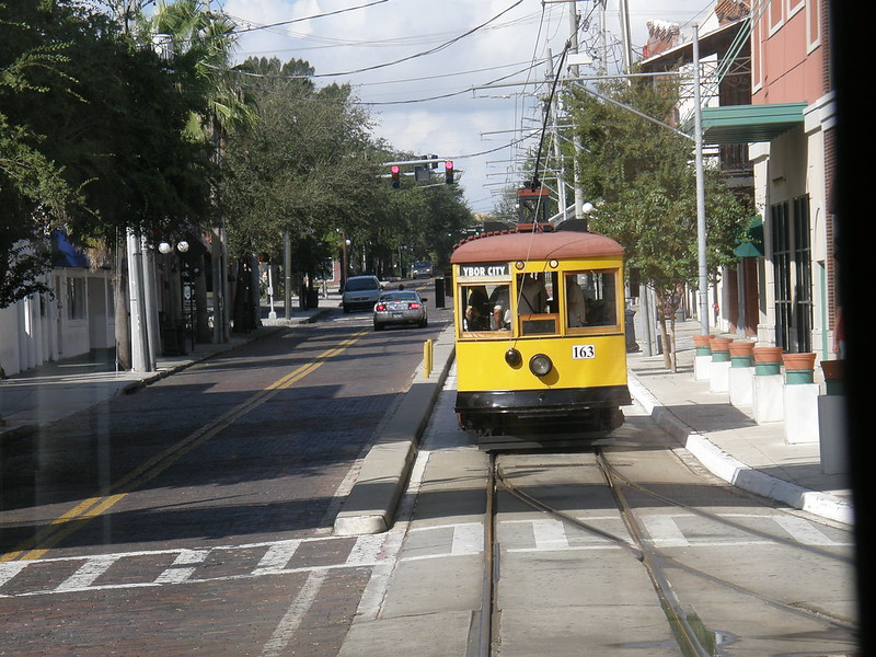 Trolly Car in Downtown Tampa