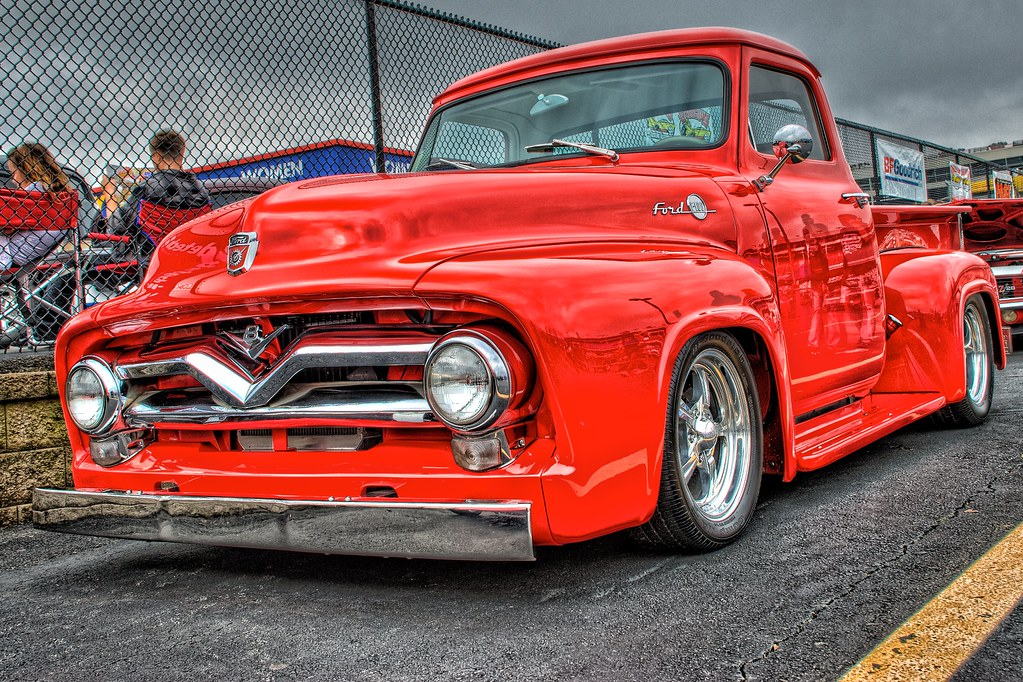50s Ford Truck >> Bright Red 50 S Ford Truck At The Southeastern Nationals