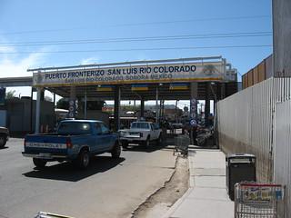 Approaching the Border Checkpoint into San Luis Rio Colorado | by Ken Lund