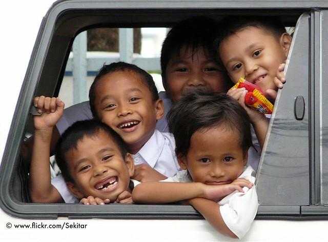 Fun in a Schoolbus in Padang, West Sumatra