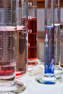Test tubes and other recipients in chemistry lab | by Horia Varlan