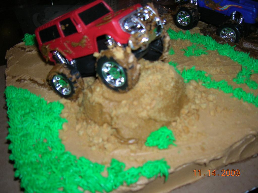 Phenomenal Truck Mudding Cake Pam And Patsy Borden Flickr Funny Birthday Cards Online Aboleapandamsfinfo