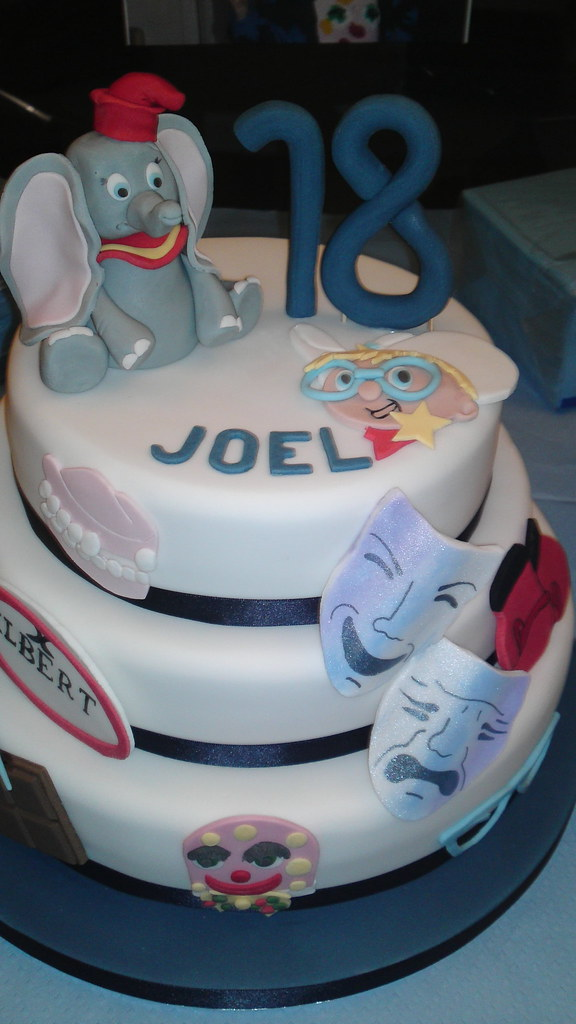 Terrific Dumbo 18Th Birthday Cake 3 Tier Cake With Images And Figur Flickr Birthday Cards Printable Trancafe Filternl