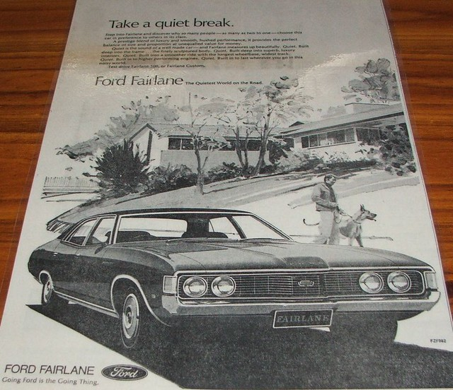 1973 Ford ZF Fairlane Ad