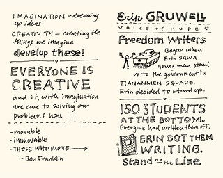 Chick-Fil-A Leadercast Sketchnotes 15-16 - Sir Ken Robinson / Erin Gruwell | by Mike Rohde