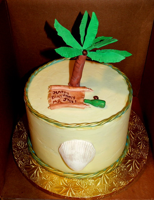 Palm Tree Cake complete