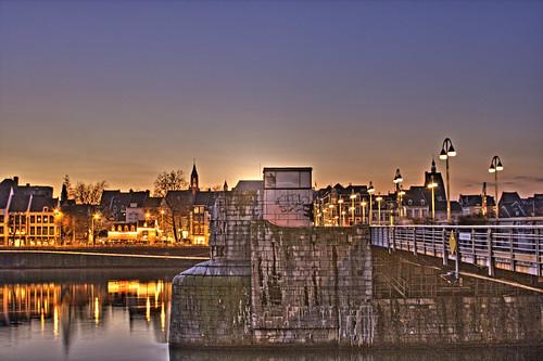 Saint Servatius Bridge of Maastricht in the Evening   by Peter Köves