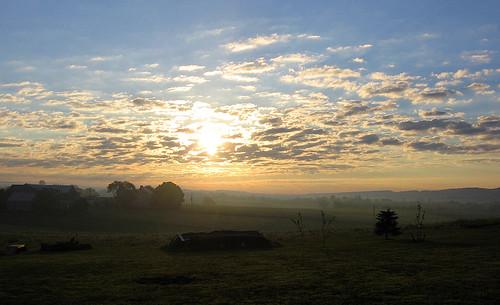 sunset clouds pennsylvania