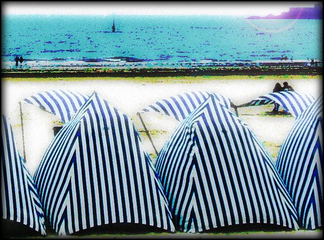 La spiaggia di Dinard