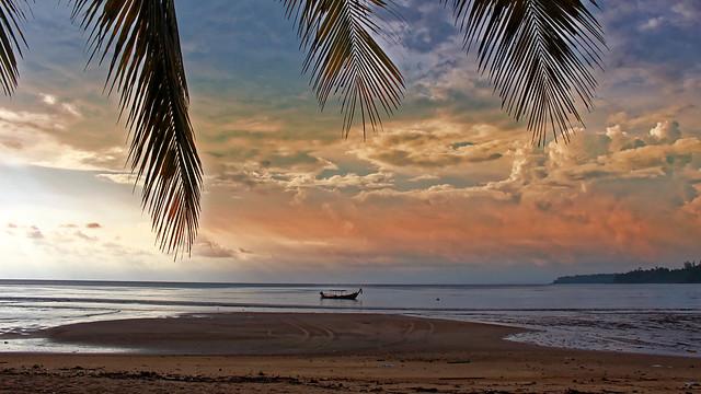 Kamal beach Thailand Phuket Sunset