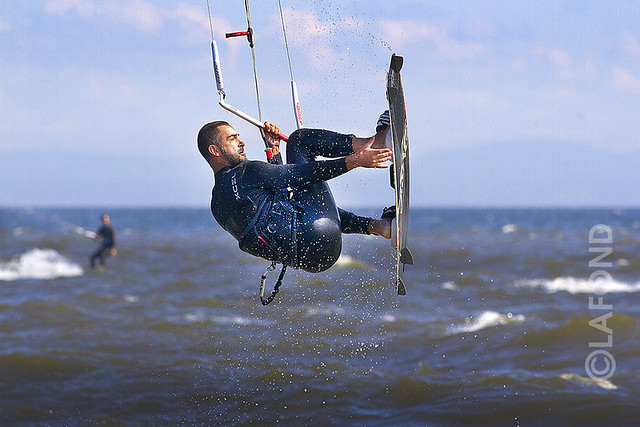 Kitesurfer sur le fleuve...