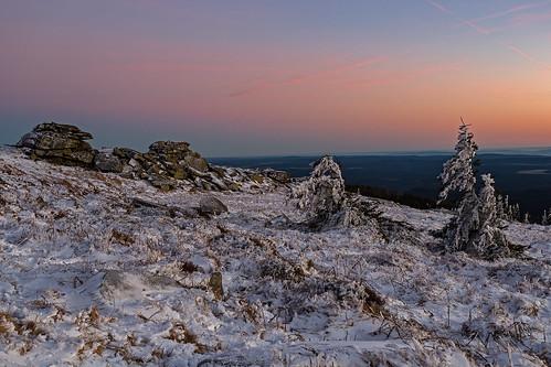 harz nacht nationalpark nationalparkharz sonnenuntergang winter harzmountain sunset