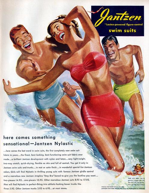 Jantzen Swim Suits Ad 1950