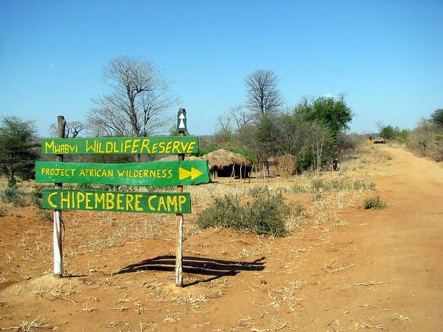 entrance to Mwabvi Park, Malawi