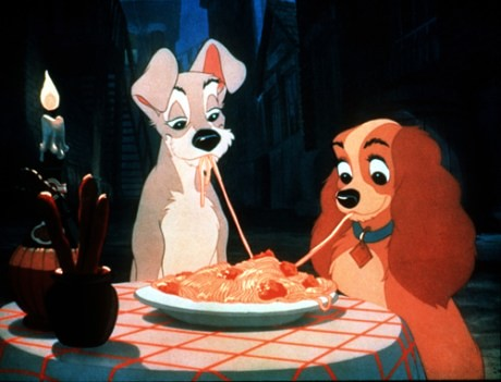 lady-and-the-tramp-romantic-dinner   by oldcreekwbf