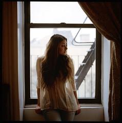 Stacie At Window
