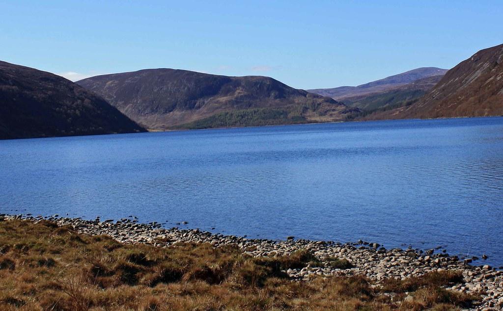 Blue Loch Loch Morie In The Strath Rusdale Area Of Ross