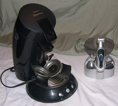Senseo Coffee Maker and Remington Razor