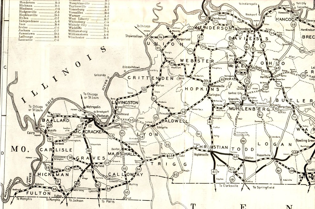 1930 Road Map of Kentucky | Eastern section of State Map Pub… | Flickr