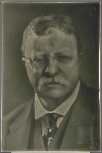 Theodore Roosevelt Ceramic Portrait Tile, 1916 | by Cornell University Library