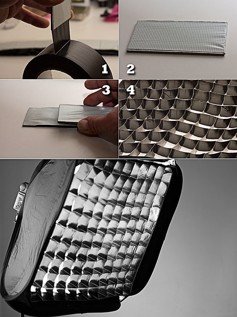 DIY Gaffer Tape Softbox Grid   I shoot often in my small liv