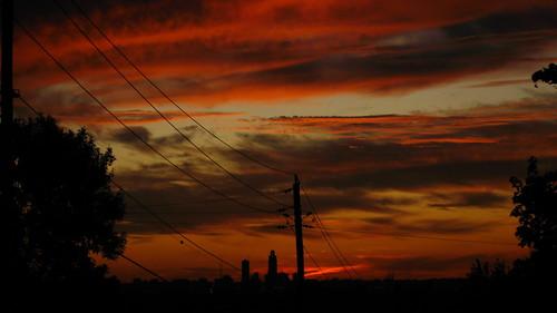 sunset sky orange night dusk canonsd900