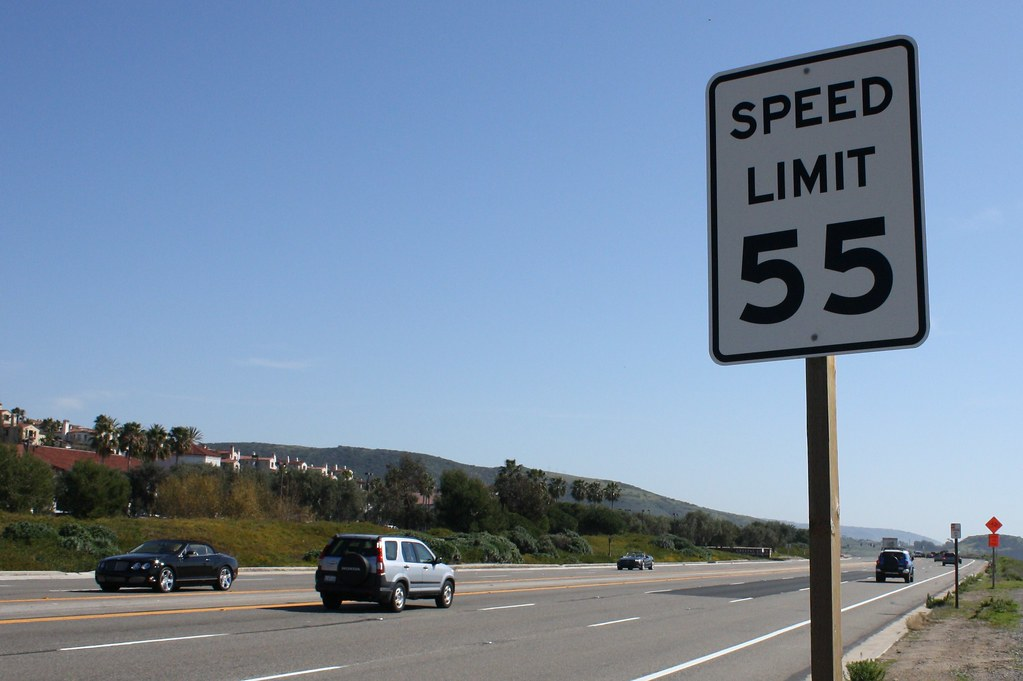 Signage 55 speed limit