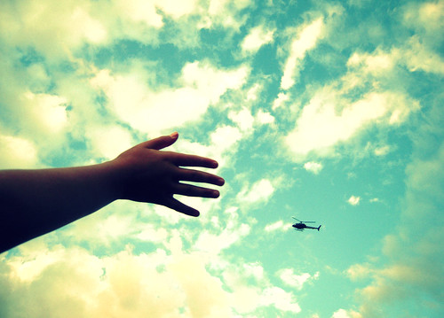 blue cloud up clouds project flying photo mac hand cross arm helicopter reach 365 process sy reddin artofimages edgedonkey