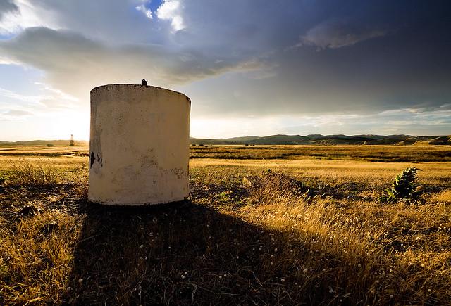 Water Tank at Sunset