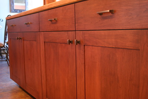Mission-Style Cherry Kitchen Cabinets with Solid Field, by ...