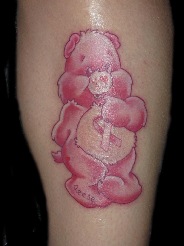 Care bear Tattoo, Breast cancer Tattoo,