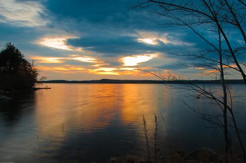 sunset lake water twilight nikon maine scenic auburn d90 lakeauburn 18105mm