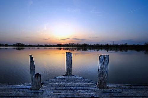 sunset sun lake night nebraska lincoln oaklake pwpartlycloudy