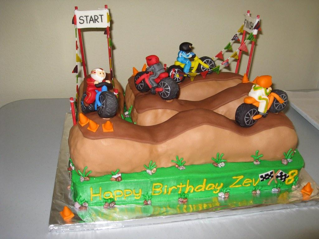Outstanding Cake Birthday Motocross Keencakes Flickr Birthday Cards Printable Trancafe Filternl