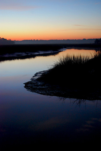 christmas creek sunrise dock glow bend southcarolina marsh beaufort seabrook d40x brosephotgraphy benroseberg